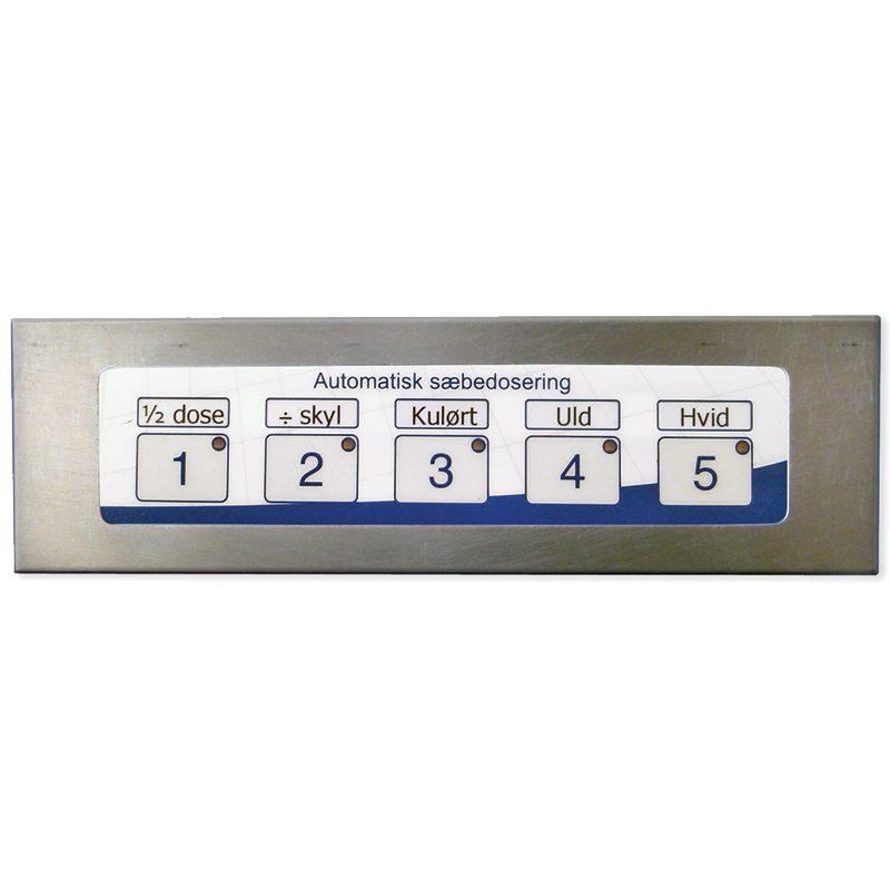 Folietastatur til valg af doseringsprogram til tøjvaskemaskinen