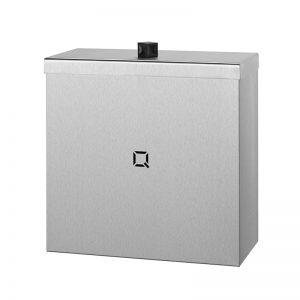 Qbic affaldsspand på 9L med låg i rustfri stål